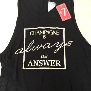 Black muscle tank with gold print size L